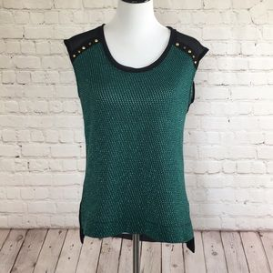 Moving Sale! Shimmering Green and Black Tank Top